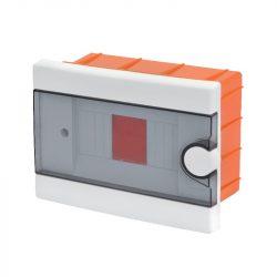 Műanyag elosztódoboz 6 modulos (2-6) - falba építhető Elmark