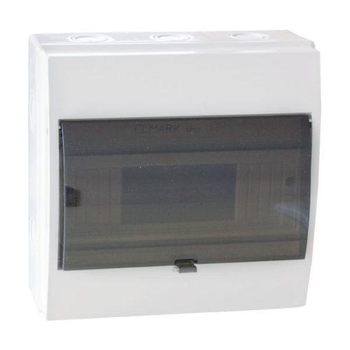 Elosztószekrény falon kívüli doboz Ip55 12 modul ELMARK