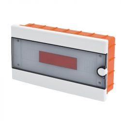 Műanyag elosztódoboz 12 modulos - falba építhető Elmark