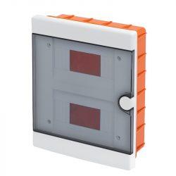 Műanyag elosztódoboz 16 (2X8) modulos - falba építhető Elmark