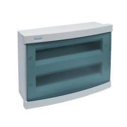 Elosztószekrény falon kívüli doboz Ip40 24 modul kék ajtó ELMARK