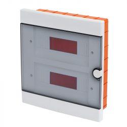 Műanyag elosztódoboz 24 (2X12) modulos - falba építhető Elmark