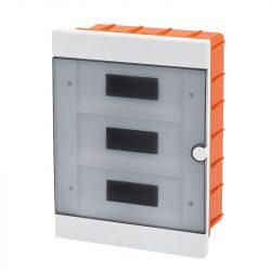 Műanyag elosztódoboz 36 (3X12) modulos - falba építhető Elmark