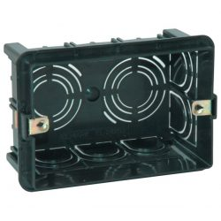 Lifestyle Süllyesztett doboz modul kapcsolóhoz 6-es fekete ELMARK