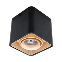 Spot lámpatest 1XGU10 négyzet billenthető arany/fekete Elmark