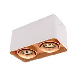 Spot lámpatest 2XGU10 négyzet billenthető arany/fehér Elmark
