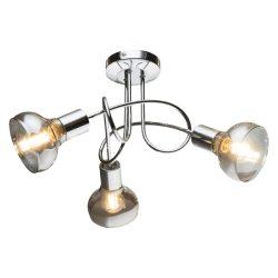 ADDY mennyezeti lámpa 3xE14 D39 króm és füstüveg ELMARK