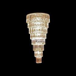 BLESSY kristály csillár 44xE14 üveg-króm ELMARK