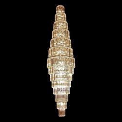 BLESSY kristály csillár 77xE14 üveg-króm ELMARK