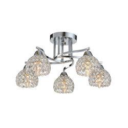LIZA kristály mennyezeti lámpa 5XE14 króm ELMARK