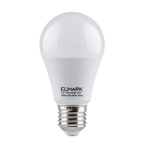 10W E27 meleg fehér LED fényforrás körte A60 ELMARK