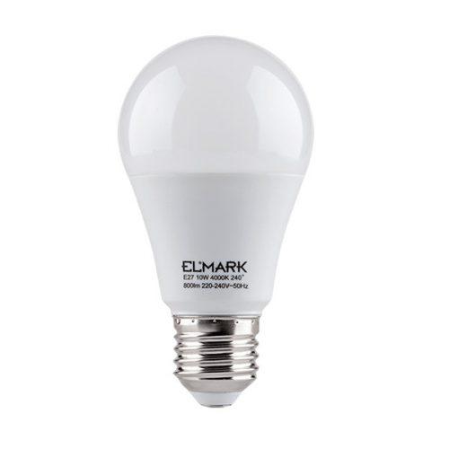 10W E27 természetes fehér LED fényforrás körte A60 ELMARK