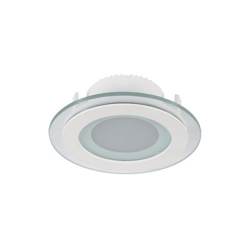 6W 4000K-4300K LED panel kör üveg természetes fehér 100mm átmérő ELMARK