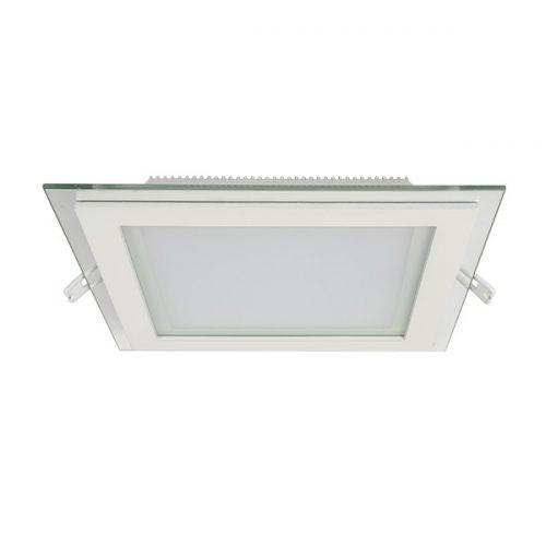 18W 4000K-4300K LED panel négyzet üveg természetes fehér 200mm/200mm ELMARK