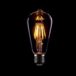 8W E27 Vintage LED fényforrás ST64 2800-3200K ELMARK