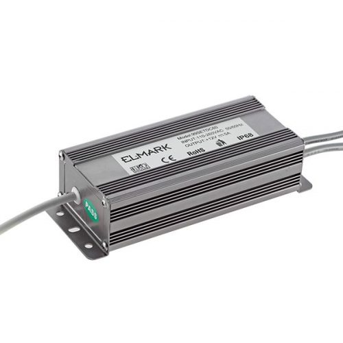 60W IP67 led tápegység 230VAC/12VDC Elmark