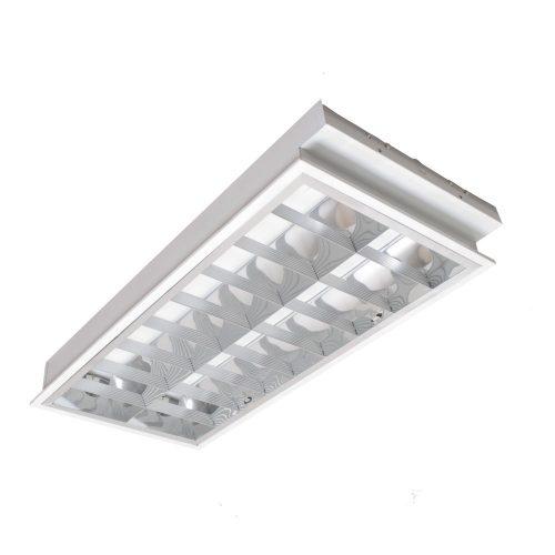 2x18W T8 tükrös elektronikus lámpatest süllyesztett Kali I ELMARK