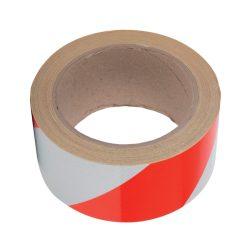 Jelző ragasztószalag 100M/50mm piros-fehér Elmark