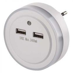ÉJJELI FÉNY 3 LED, 2× USB EMOS