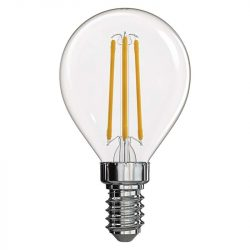 4W E14 meleg fehér filament LED fényforrás gömb WW Emos
