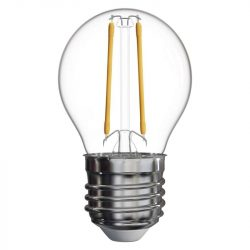 2W 4100K  E27 filament kisgömb izzó Emos