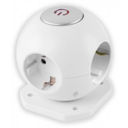 Entac Gömb elosztó 4 foglalattal, kapcsolóval 1.5m 3G1.5 Avide