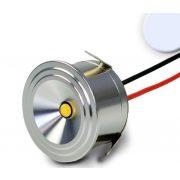 1x3W hideg fehér süllyesztett LED bútorvilágító IP54 700mA ISOLED