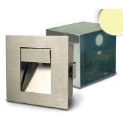 1W meleg fehér süllyesztett LED lámpa IP44 nemesacél ISOLED