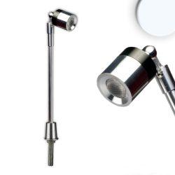 3W természetes fehér LED vitrinvilágító lámpa króm ISOLED