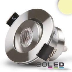 3W 3000K süllyesztett LED mélysugárzó dimmelhető 45° szatén-nikkel ISOLED