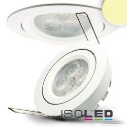 8W 2700K süllyesztett billenthető LED mélysugárzó dimmelhető 72° fehér ISOLED