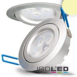 8W 2700K süllyesztett billenthető LED mélysugárzó dimmelhető 72° ezüst ISOLED