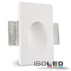 Süllyesztett gipsz keret G4/MR11 foglalat négyzet fehér ISOLED