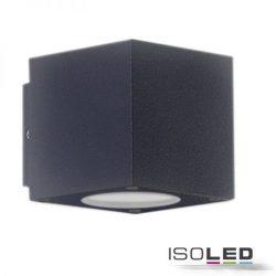 2x3W meleg fehér két irányú fali lámpa IP54 sötétszürke ISOLED