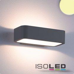 1x7W meleg fehér fali lámpa IP54 sötétszürke ISOLED