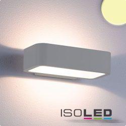 1x7W meleg fehér fali lámpa IP54 ezüst ISOLED