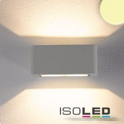 4x3W meleg fehér fali lámpa két irányú IP54 ezüst ISOLED