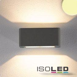 4x3W meleg fehér fali lámpa két irányú IP54 sötétszürke ISOLED