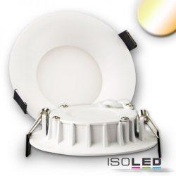 8W színhőmérséklet változtatható süllyesztett LED mélysugárzó dimmelhető 110° fehér kúpos ISOLED