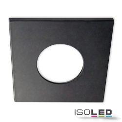 Alumínium fedél, szögletes, matt fekete, Sys-68 süllyesztett szpotlámpához Isoled