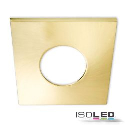 Alumínium fedél, szögletes, szálcsiszolt arany, Sys-68 süllyesztett szpotlámpához Isoled