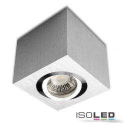 Mennyezeti lámpa négyzet GU10/MR16 szálcsiszolt alumínium izzó nélkül ISOLED