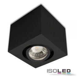 Mennyezeti lámpa négyzet GU10 alumínium fekete izzó nélkül ISOLED