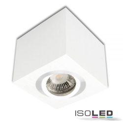 Mennyezeti lámpa négyzet GU10 alumínium fehér izzó nélkül ISOLED