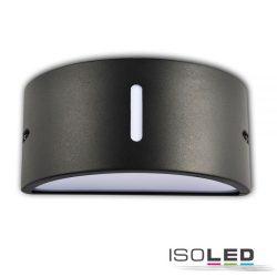 1XE27 fali lámpa ovális IP54 sötétszürke ISOLED