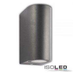 2XGU10 SIARA fali lámpa két irányú IP54 sötétszürke ISOLED