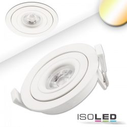 9W 2000-2800K süllyesztett billenthető LED mélysugárzó 45° színhőmérséklet szabályozható ISOLED