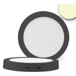 24W meleg fehér LED panel kerek fekete dimmelhető ISOLED