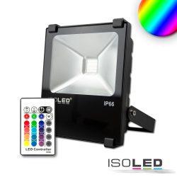 LED fényvető 10 W, RGB, IP66, rádiós távirányítóval Isoled