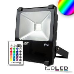 LED fényvető 30 W, RGB, IP66, rádiós távirányítóval Isoled